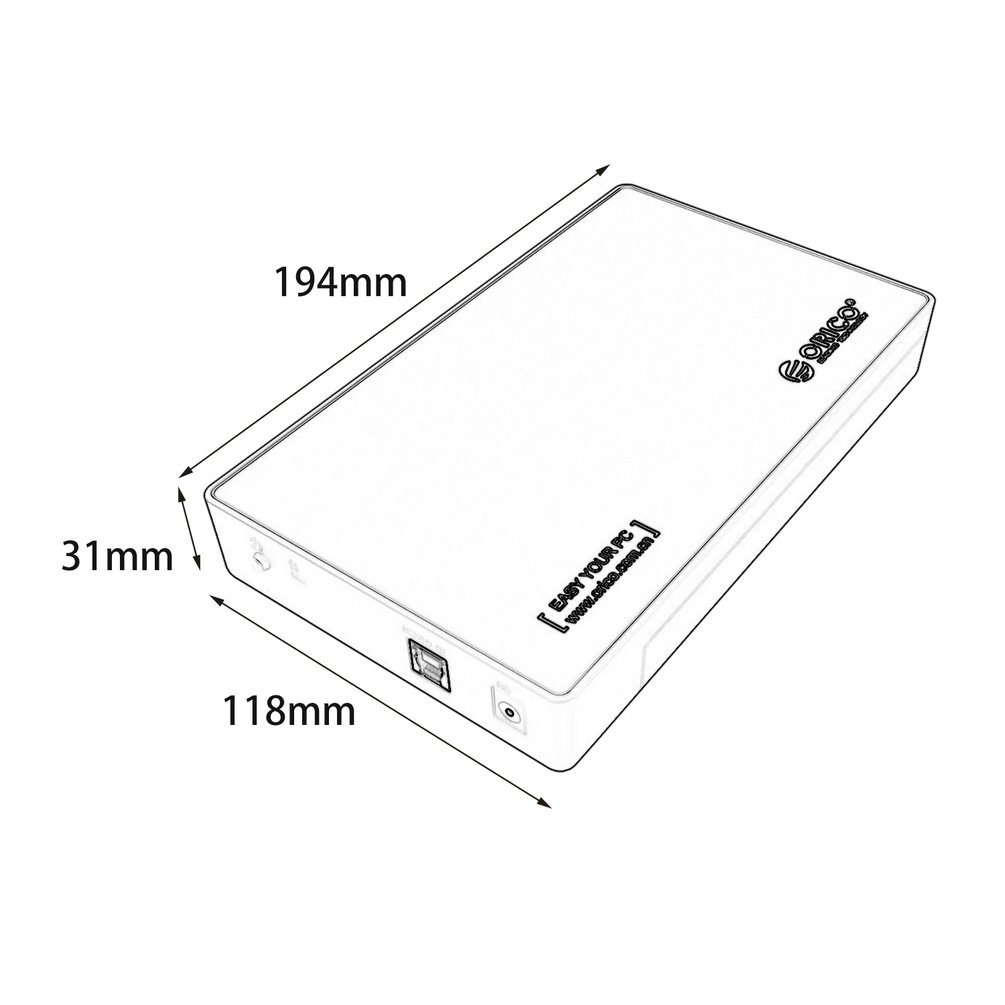 Orico 35inch Usb 30 Sata Iii Hdd Hard Disk Drive Enclosure Caddy Diagram Mounting Uasp 8tb Ha