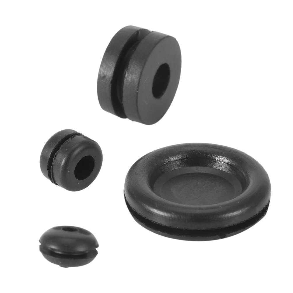 125 Pc Rubber Grommet Firewall Wire Gasket Solid Hole Plug ...