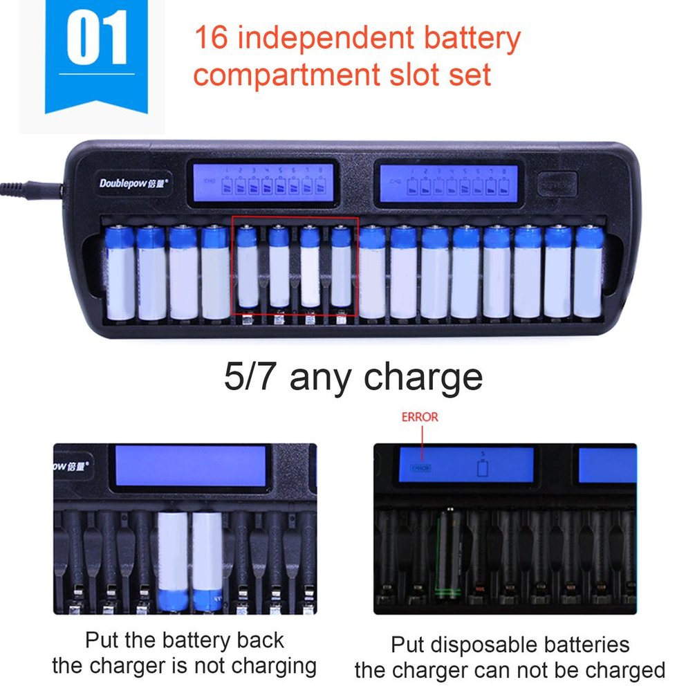 Doublepow-Multi-Slot-LCD-Intelligent-Battery-Charger-For-AA-AAA-Battery-Lot-TE