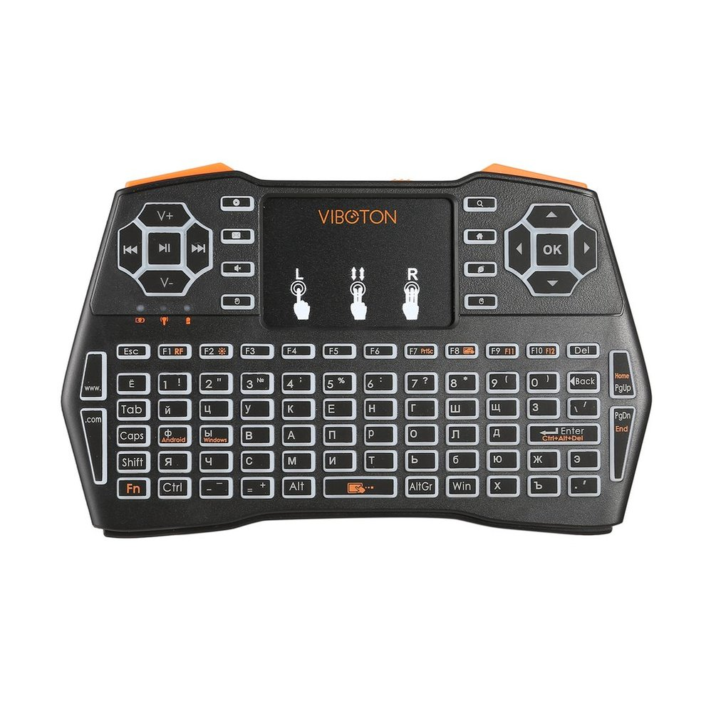 07dc22b431d VIBOTON i8Plus 2.4G Wireless QWERTY Keyboard Fly Air Mouse Multi-Touchpad  Hot ZS