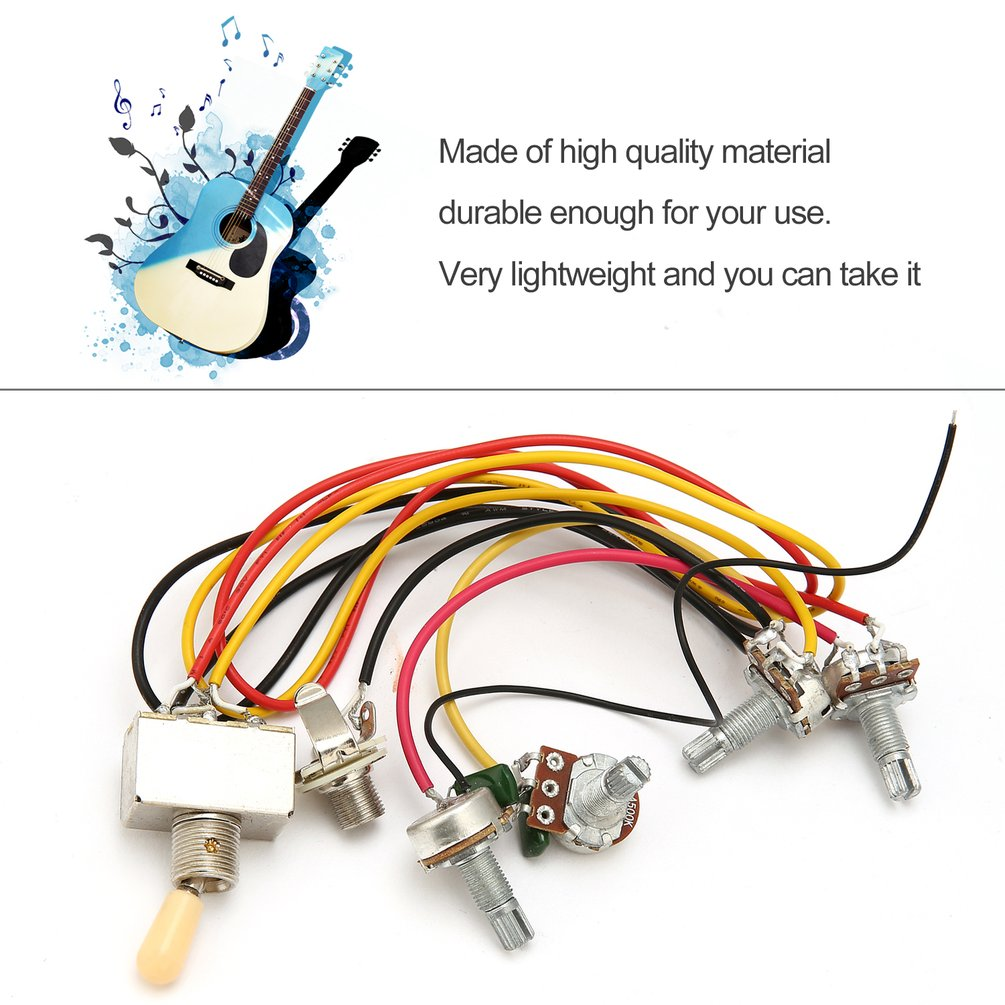 1 Full Set Lp Sg Electric Guitar Pickup Wiring Harness Potentiometers Kit Zm