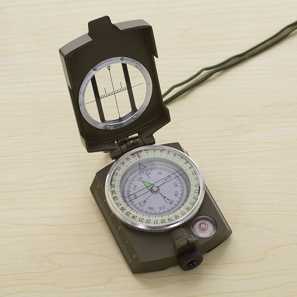 Luminous Metal Compass High Precision Compass Magnetic Compass For Camping PA