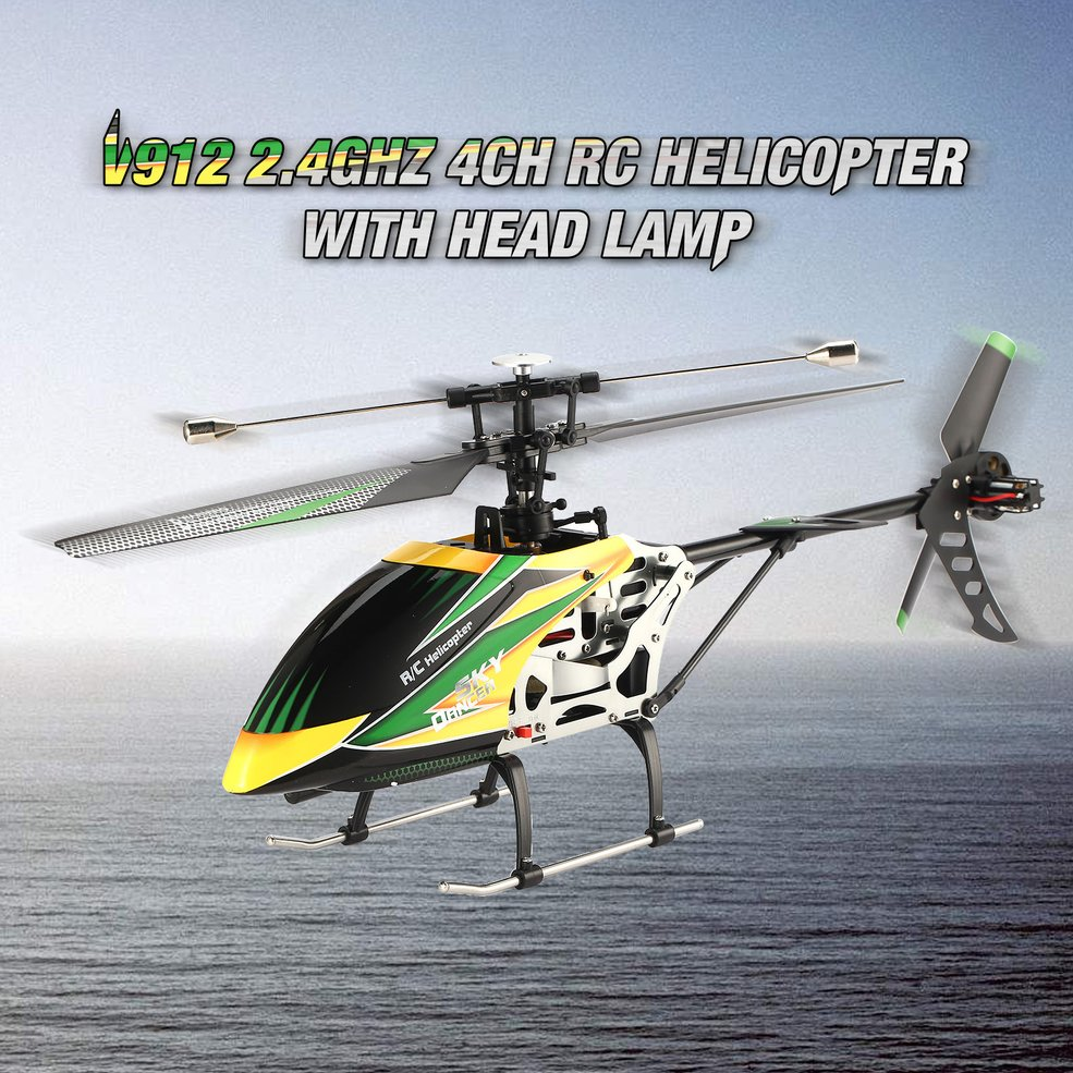 Details about WLtoys Large V912 Helicopter with Gyro RTF 4CH Single Blade  RC Remote Control PA