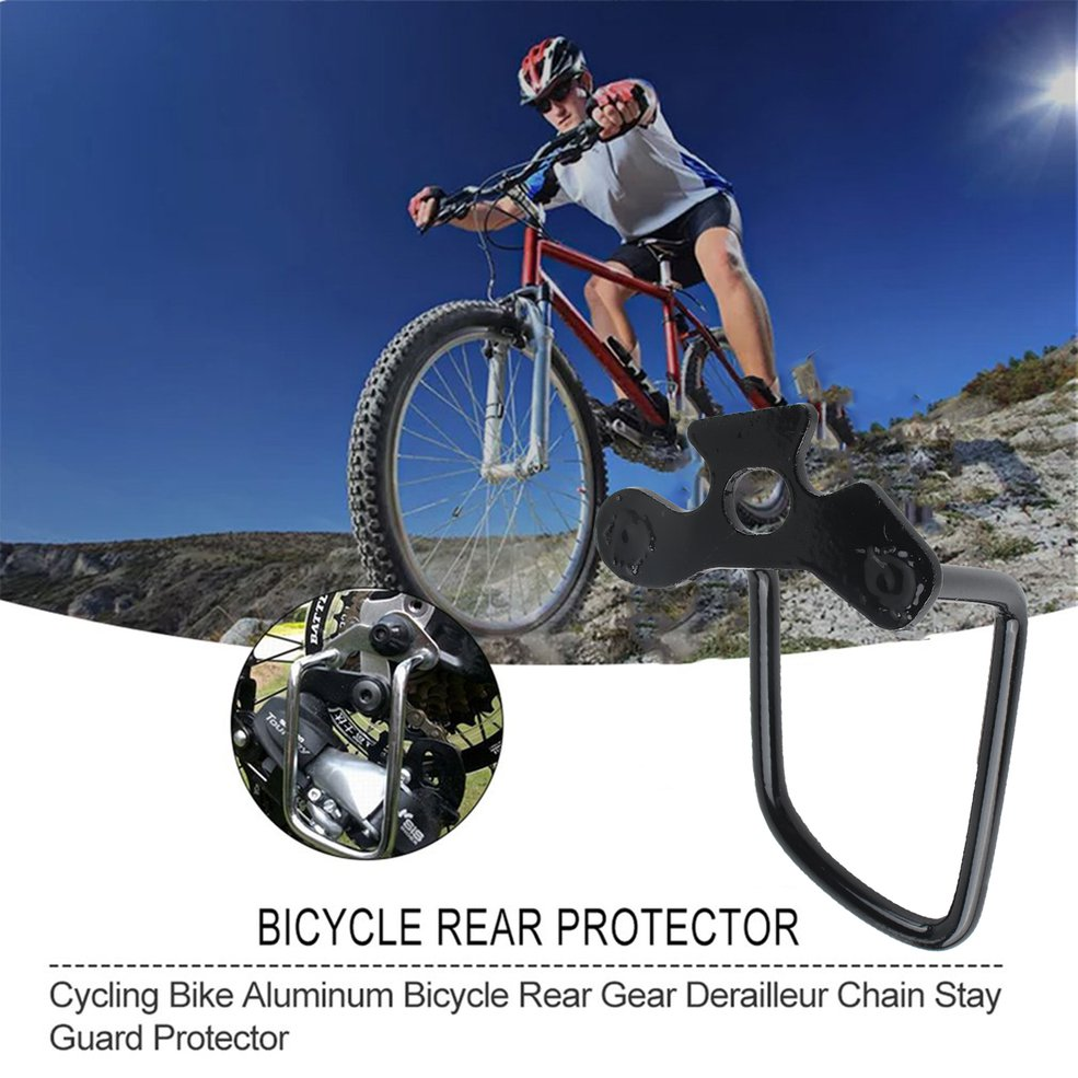 Cycling Bike Aluminum Bicycle Rear Gear Derailleur Chain Stay Guard Protector G