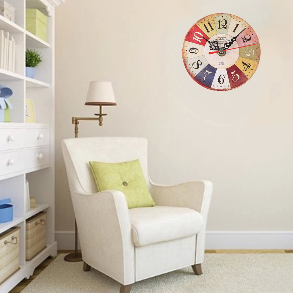 Bz299 Wall Mounted Clock Simple Modern Living Room And Bedroom Round Clock Lo Ebay