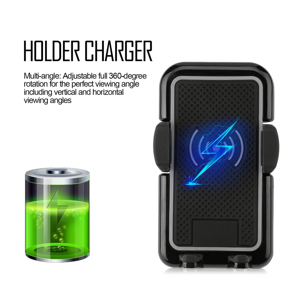 iphone 8 8 plus x qi wireless fast charger charging car. Black Bedroom Furniture Sets. Home Design Ideas