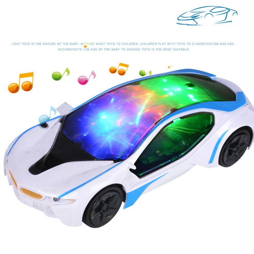 Details about New Cool Car Flashing LED Light Music Sound Electric Toy Cars  Kids Children PA