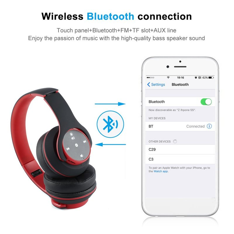 Foldable-Touch-Wireless-Headset-with-Mic-Support-FM-amp-Card-Reader-Function-IB thumbnail 22