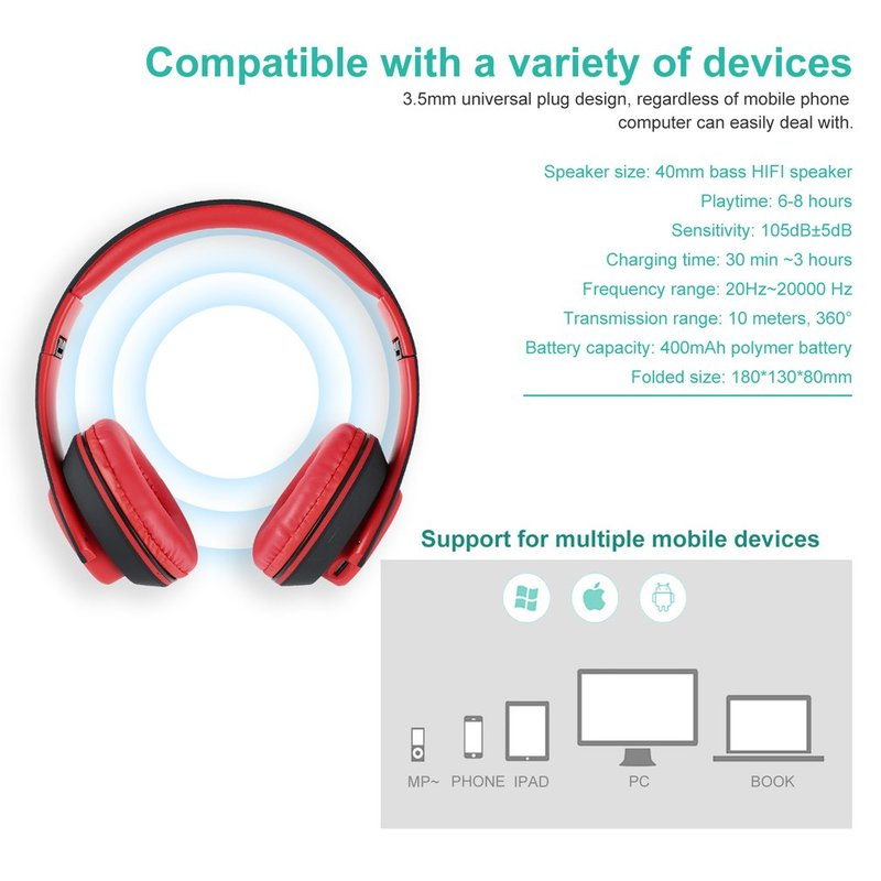 Foldable-Touch-Wireless-Headset-with-Mic-Support-FM-amp-Card-Reader-Function-IB thumbnail 28