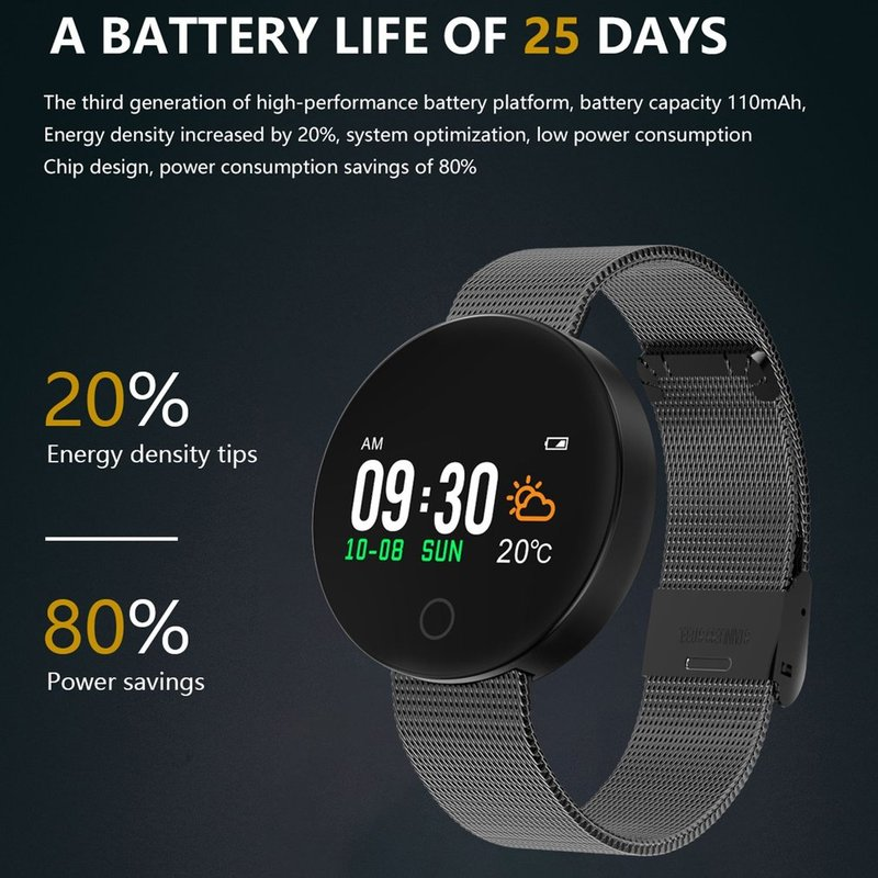 Smart-Bracelet-HD-0-96-Inch-Screen-Bluetooth-4-0-Waterproof-Anti-sweat-TI