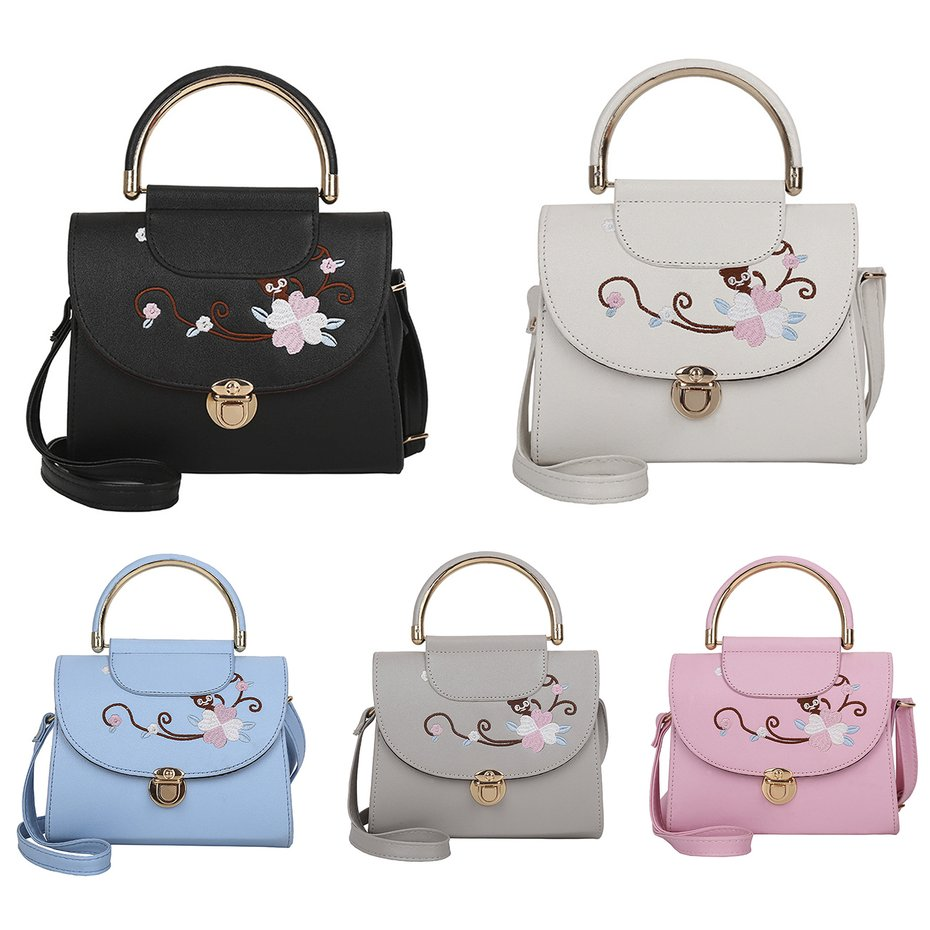 a02463986b02d6 Elegant Woman Embroidered Flower Shoulder Bag Crossbody Bag Small ...
