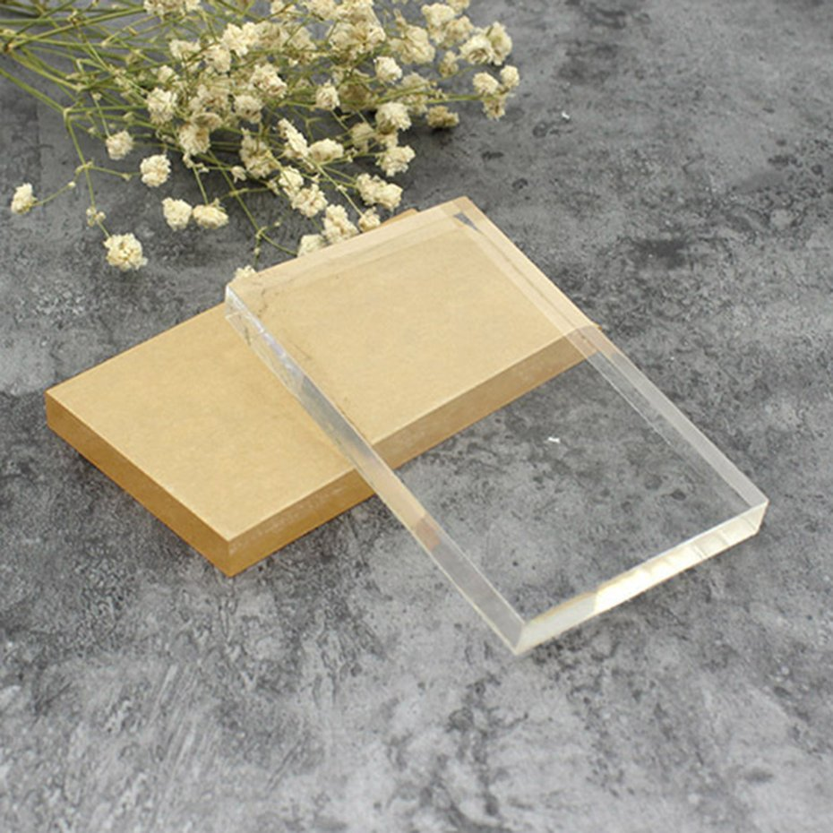 Lightweight transparent acrylic stamp block rectangular for Square narrow shape acrylic