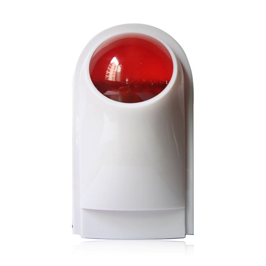 Waterproof Wireless Outdoor Flash Strobe Sound Siren Red Light Alarm System Ig