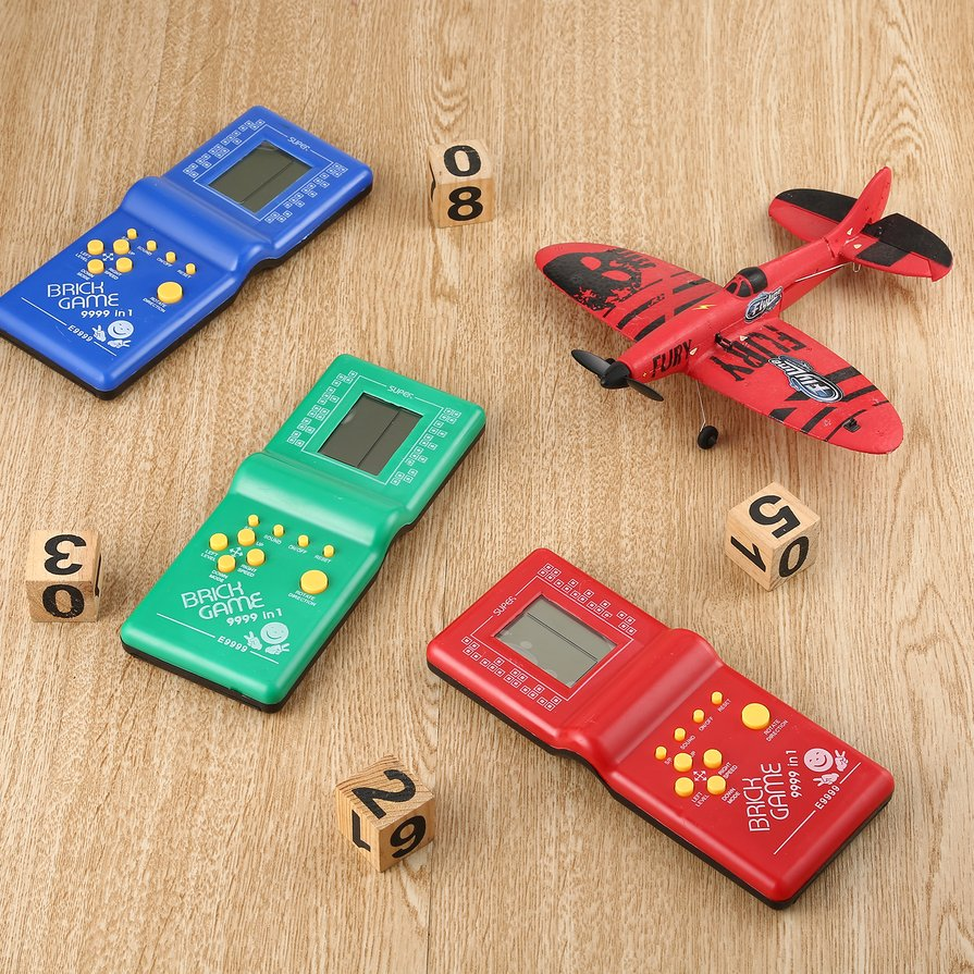 Details about Tetris Game Hand Held LCD Electronic Game Toys Brick Classic  Retro Games Gift F7