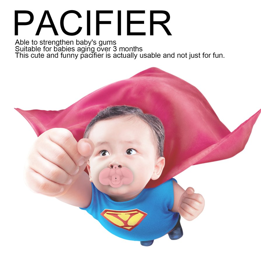 Funny Baby Toddler Infant Pacifier Nipple Soother Silicone Sea Fox