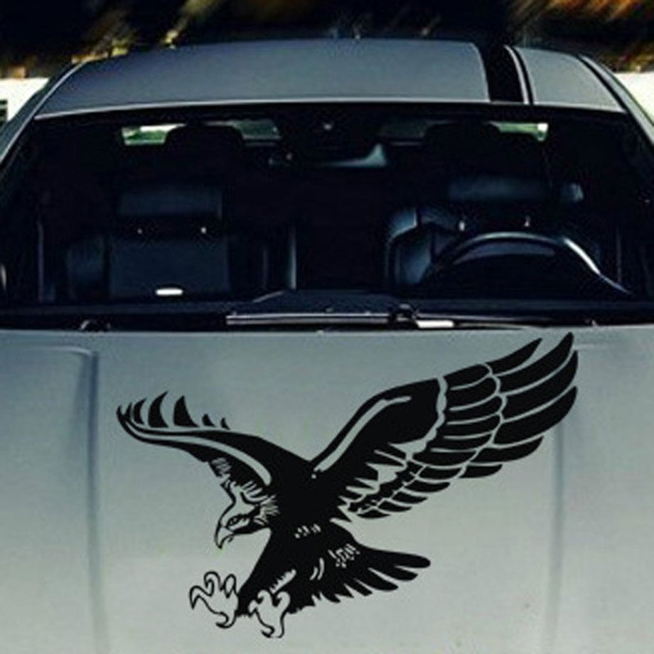 Car 3d eagle flying funny car stickers truck window vinyl decal graphics sticker