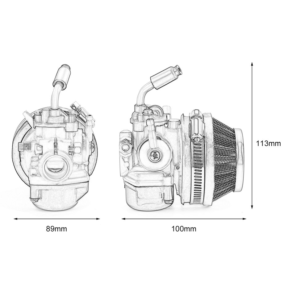 two  air filter for motorcycle