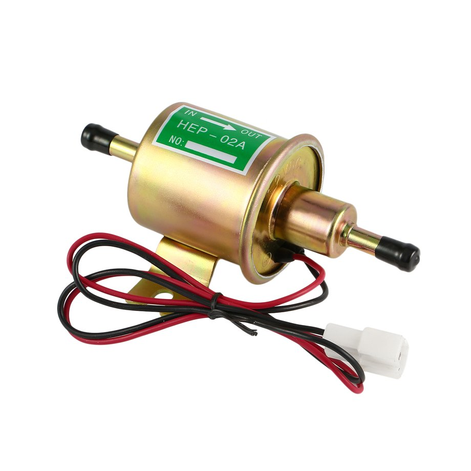 Universal 12v Electric Fuel Pump Low Pressure Bolt Fixing Wire Electrical 1 X Hep 02a