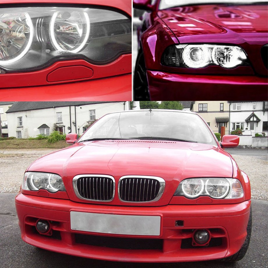 4x Car Ccfl White Led Light Angel Eyes Halo Rings For Bmw E36 E38 Neon Ring Eye Shadow Double Item Specifics