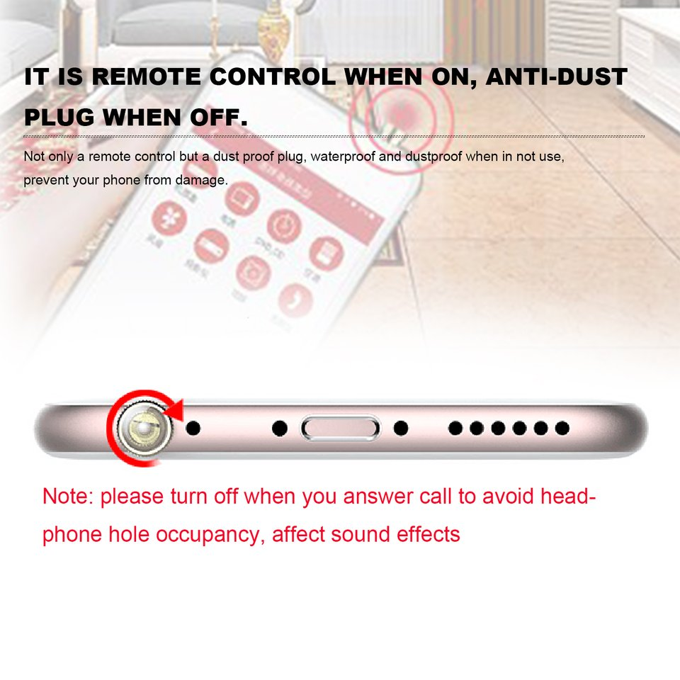 Universal Infrared Ir Remote Control Anti Dust Plug Transmitter Integrated Circuit For Iphone Oe