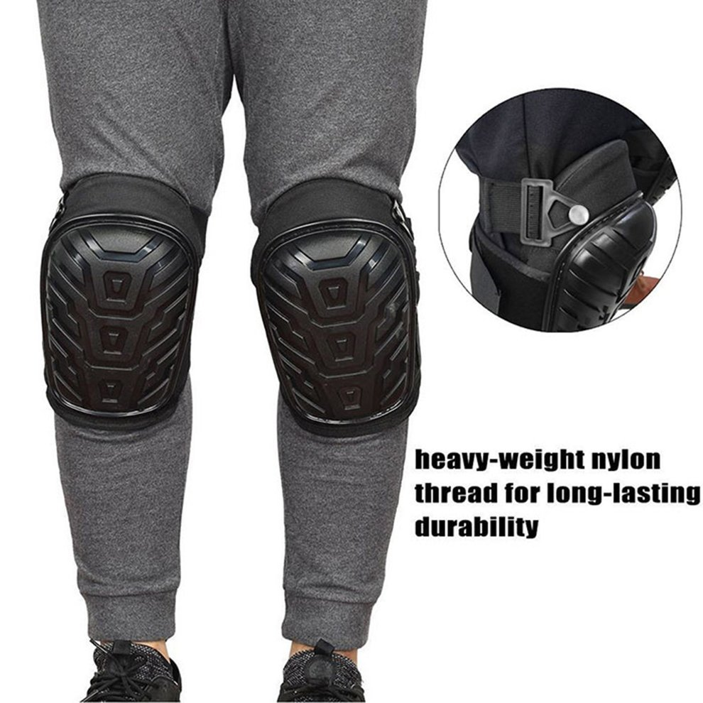 Details about 1 Pair Professional Heavy Duty Work Knee Pads Adjustable Safe  Gel Cushion C2