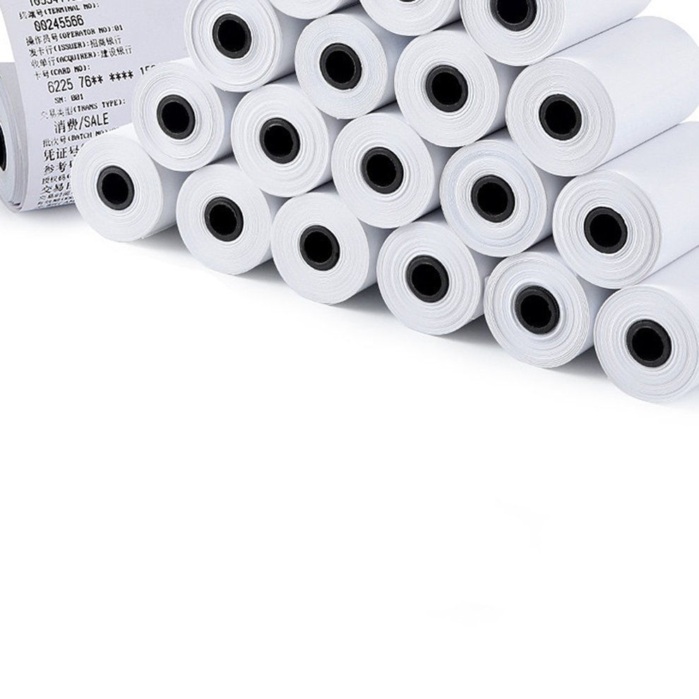 Details about 57X30MM Durable Printable Sticker Paper Direct Thermal Paper  Self-Adhesive W3