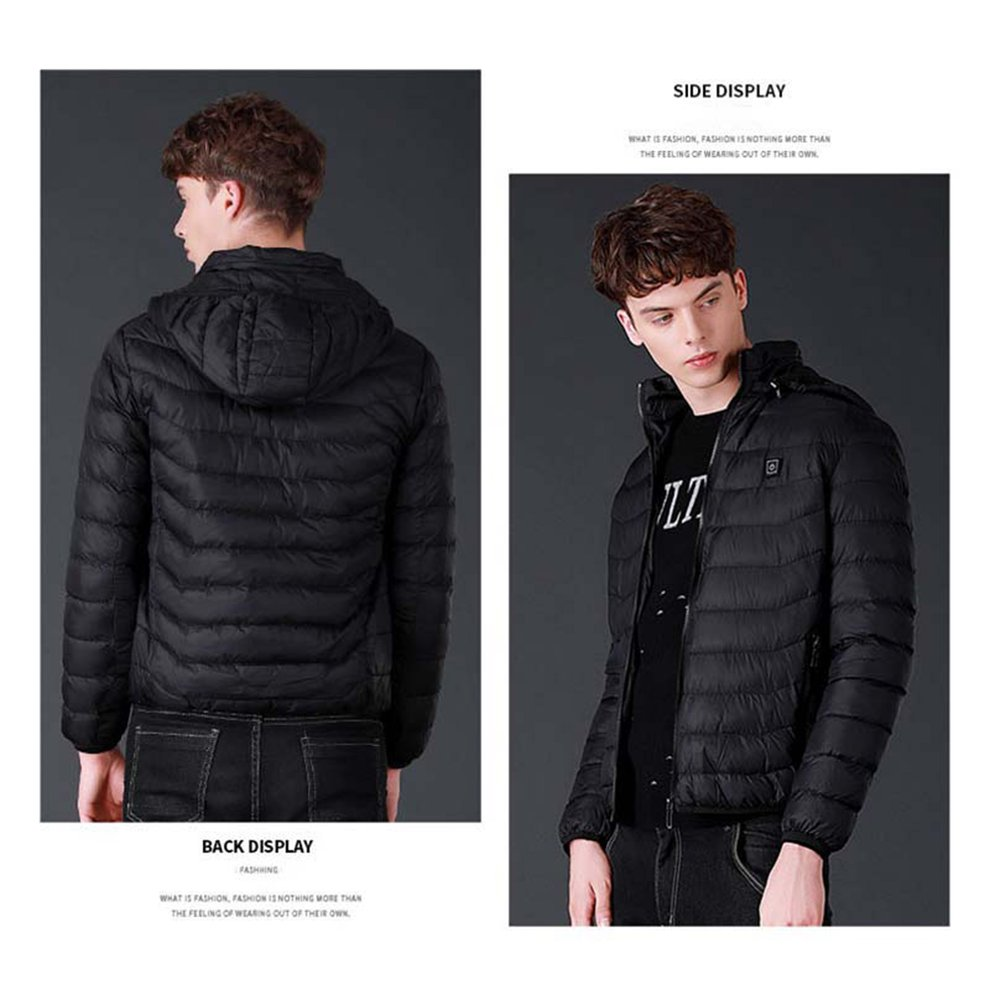 3879164d8 Details about Men Thermal Clothes USB Heater Coat Heated Jacket Winter  Outdoor Clothes RE
