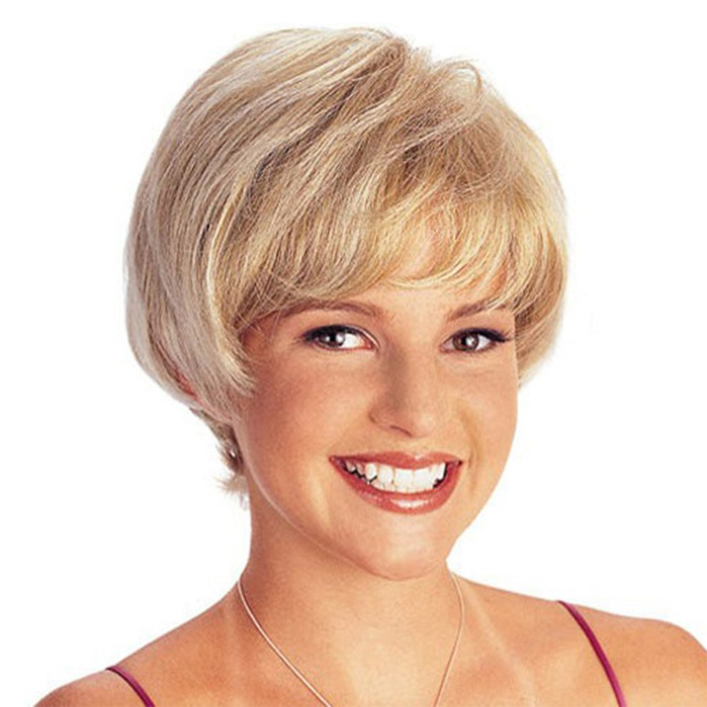 Charming Women Synthetic Full Wigs Short Wave Curly Bob Hairstyle