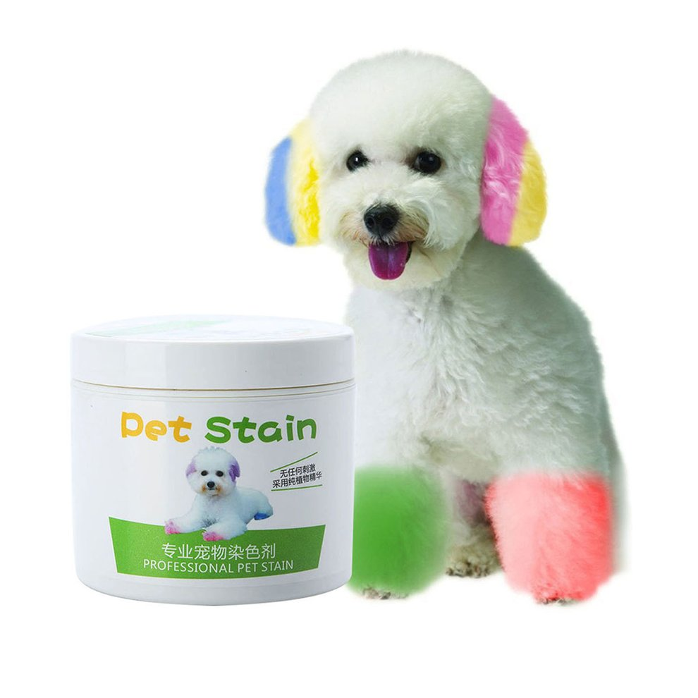 100g Pet Dog Hair Color Dye Coloring Dyeing Harmless Natural Dyeing
