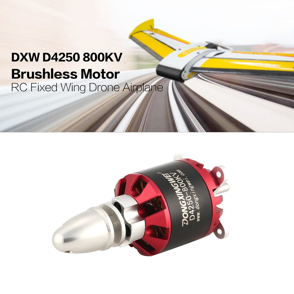 Dxw D4250 800kv 3 7s Outrunner Brushless Motor For Rc Fixed Wing On Wiring Diagram Airplane Nn