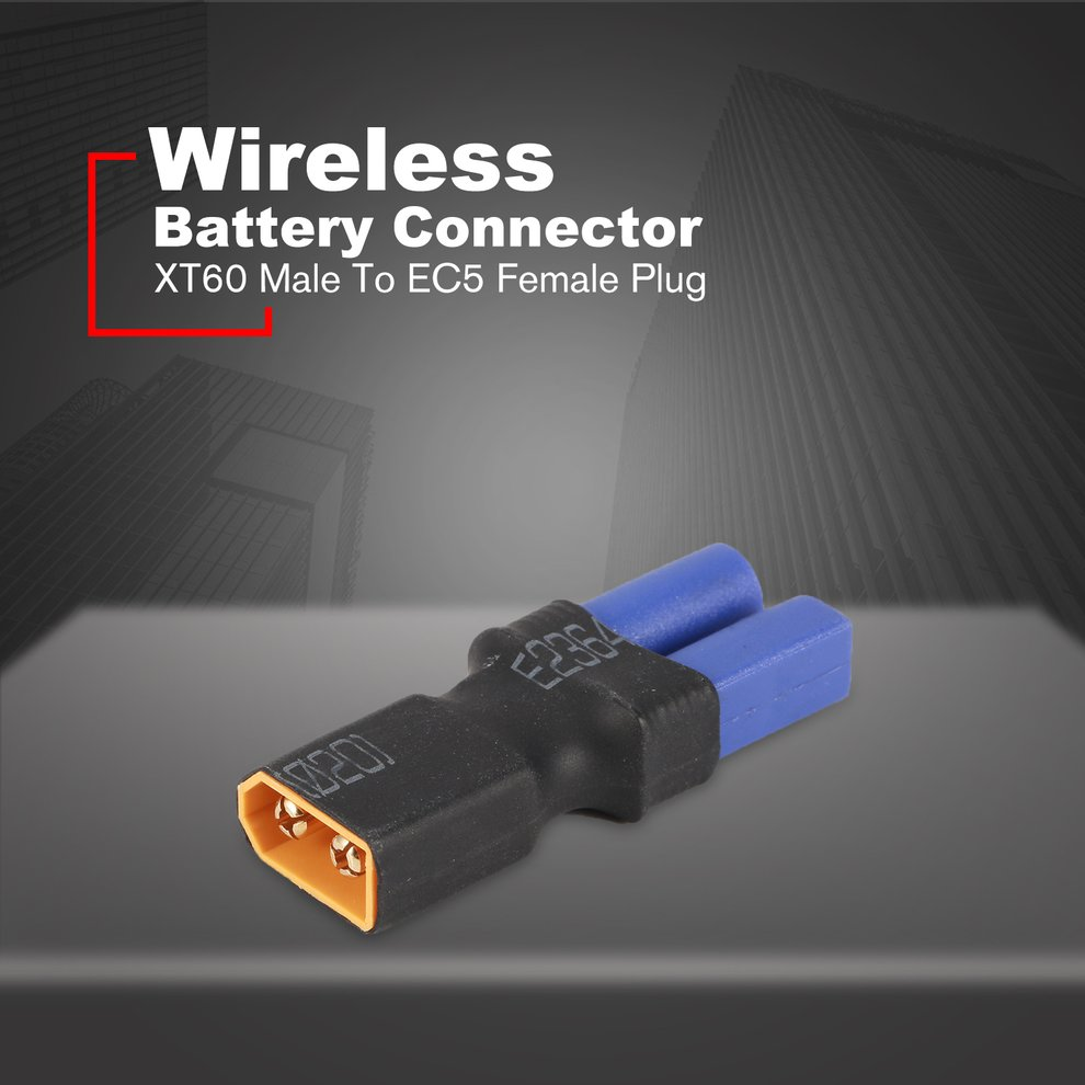 EC5 Female To T Male Plug Wireless Adapter For RC Lipo Battery Connector 5X