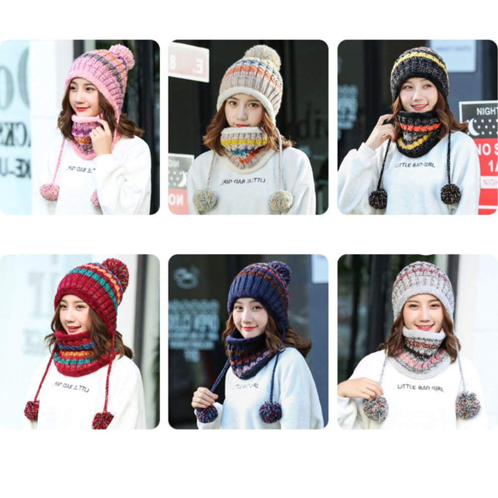 b598d3dbb Details about MM44 Autumn And Winter Korean Fashion Female Sweet Cute Wild  Knit Hat Scarf ZX