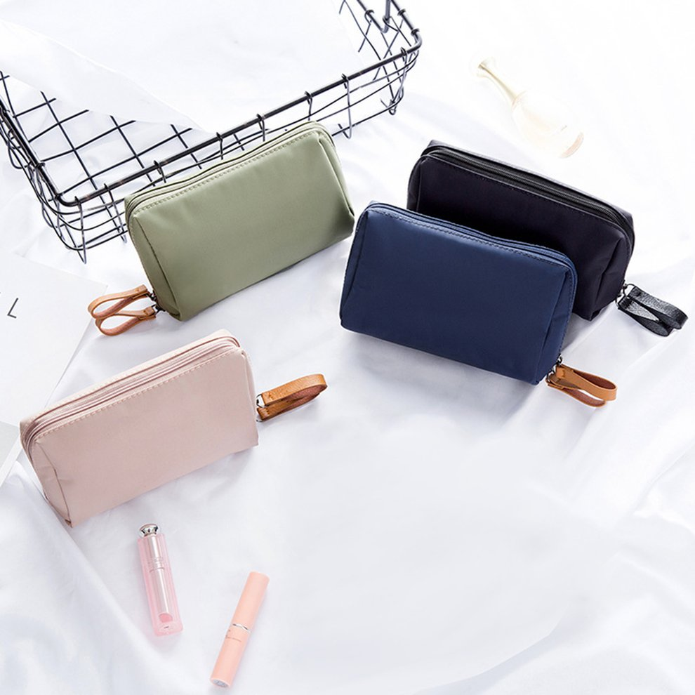 d02a1c750478 Multifunctional Small Size Women Waterproof Nylon Makeup Bag Solid Color  Cosmetics Pouchs For Travel Ladies Pouch Cosmetic Bag