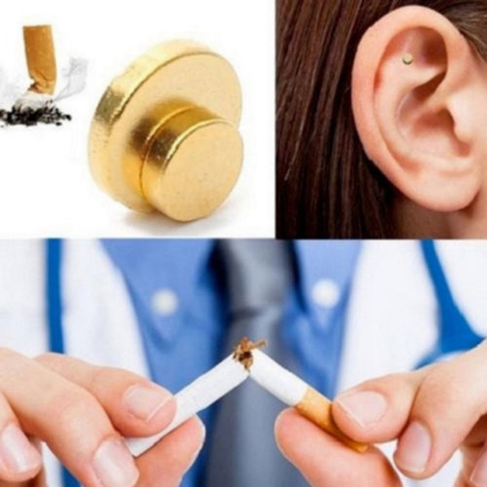 6X Quit Smoking Auricular Ear Magnet Therapy Smoke Weight Loss Acupressure AP