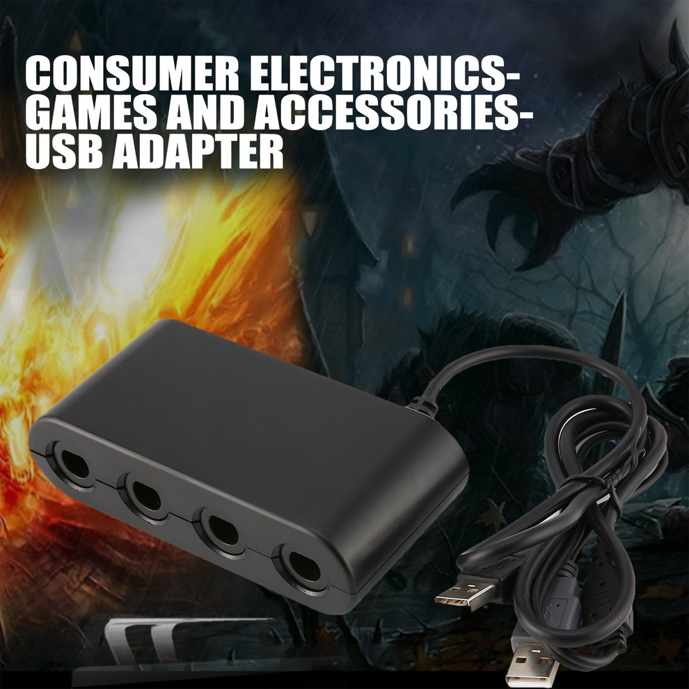 Computer & Office 3 In 1 Gc To Wiiu Pc Switch Converter Ngc Controller Adapter Game Cube Computer Supplies Handle Converter Hot In Pain