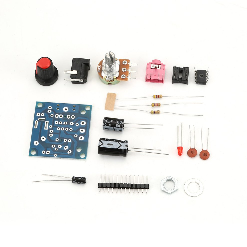 Lm386 Super Mini 3v 12v Power Audio Amplifier Board Suit Electronic Simple Circuit Using This Kit Uses The Chip A External Circuitthe Signal Is Amplified2by Potentiometer Can Adjust Size Of Input