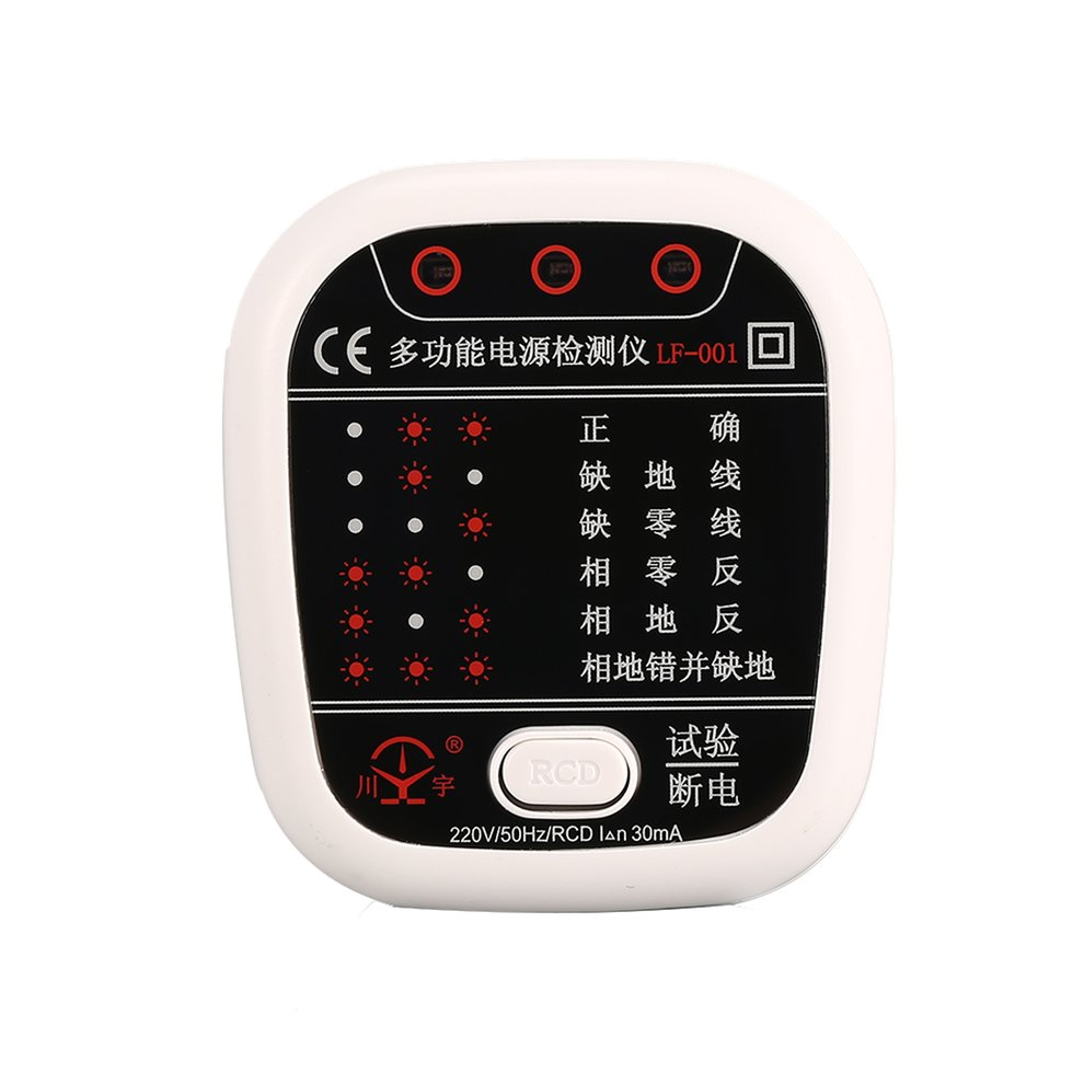 Socket Tester Outlet Circuit Polarity Voltage Detector Plug Breaker Finder Gfci Ncv Item Specifics