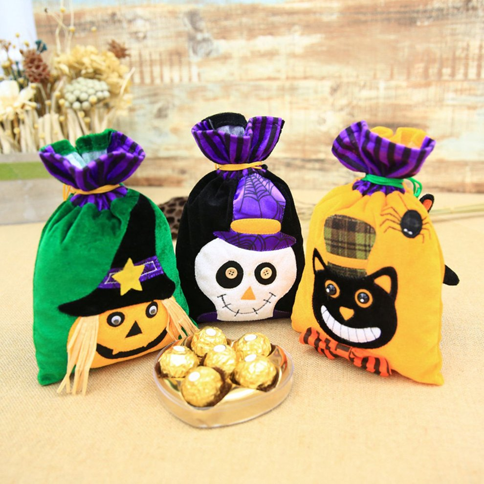 Halloween Gift Bag Beam Port Drawstring Sack Party Candy Kid Bags Pouch