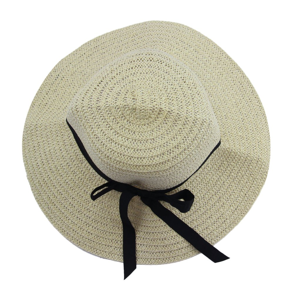 Details about Fashion Elegant Women Girls Outdoor Sun Hats Caps Summer  Beach Hat Straw Cap RH db91de7643d5