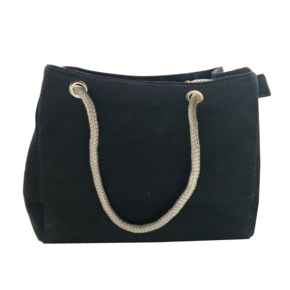 f56b4ec7678 Woman Casual Rope Strap Design Hemp Cloth Made Canvas Bag Single ...