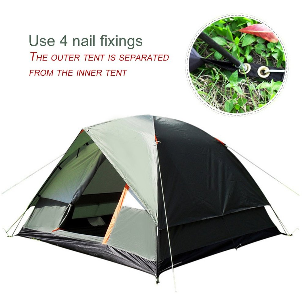 Waterproof C&ing 3 Seasons Polyester Oxford Cloth Dual Layers Tent 4 Person RE  sc 1 st  eBay : re waterproof tent - memphite.com