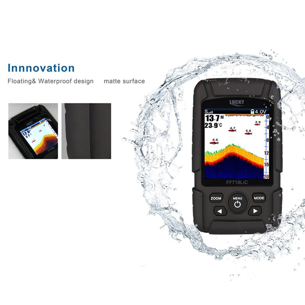 Lucky Portable Wireless+Wired 2 In One Waterproof Fish Finder ...