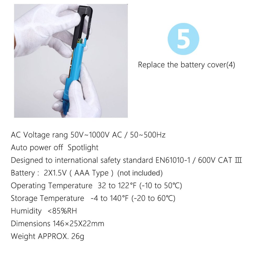 Circuito Not : 12 10000v ac non contact electric power circuit tester voltage